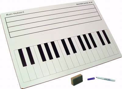 Set of 30 Student Dry Erase Keyboard/Staff Boards by Markerboard People