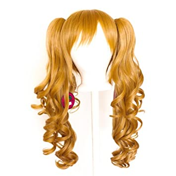 23/'/' Curly Pony Tail Clip Hazelnut Brown Cosplay Wig Clip Only NEW