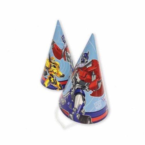 Amscan InternationalLot de 8 chapeaux de fête résistants avec motif de Transformers Prime 996355