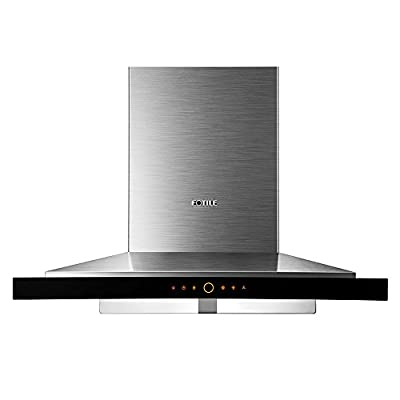 "FOTILE EMS9018 36""Wall-Mounted Stainless Steel Kitchen Range Hood with LED Lights"