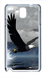 3D Eagle Polycarbonate Hard Case Cover for Samsung Galaxy Note III/ Note 3 / N9000 White