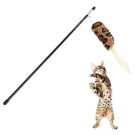 Broadroot Divertido Palo de Gato para Caña de Pescar para Gatos, Juguetes interactivos para Jugar: Amazon.es: Productos para mascotas