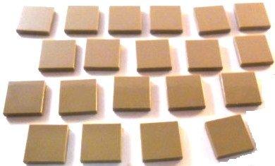 Lego city beige scuro piastrelle con gommini