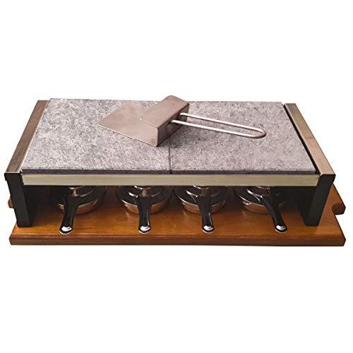 Set Completo para Asar Carne a la Piedra de 20x40x2,5 cm Especial Chulet/ón con 4 quemadores