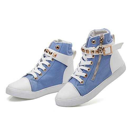 Thick Jiang Shoes Rivet Sneakers B Fashion Shoes Spring Bottom Casual Academy Shoes Lace Shoes up Women's Printed New rprBwZ7