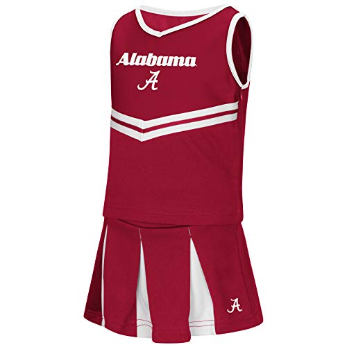- Colosseum NCAA Toddler-Girls Team Cheer Set-Alabama Crimson Tide-5T