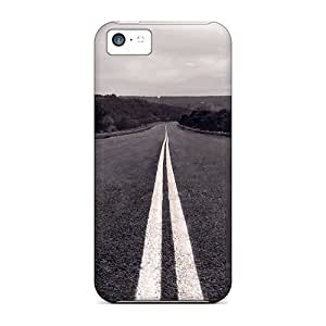 Hot QqoCv2091BsjVa Road Tpu Case Cover Compatible With Iphone 5c
