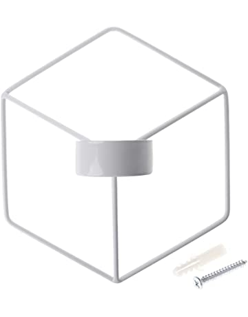 yanhonin candelabro, Nordic style 3d Geométrica portavelas de metal, portavelas boda Home Decor blanco