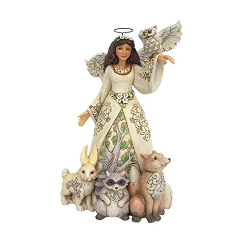 Jim Shore Spring - Jim Shore Heartwood Creek by Enesco Spring White Woodland Angel Figurine