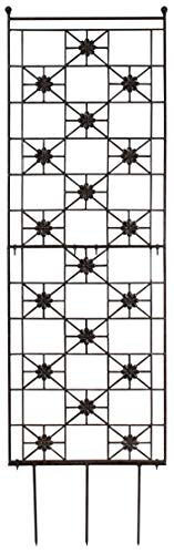 ll Garden Flower Trellis Wrought Iron Heavy Scroll Metal Decoration Lawn, Patio & Wall Decor Screen for Rose, Clematis, Ivy Patio Deck Wall Art ()