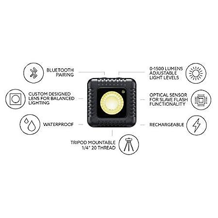 Nero/ /Kit di 2/Unit/à /Torcia LED per fotocamere Lume cubo lc0012ne/