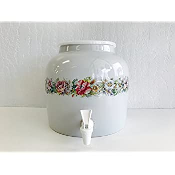 Amazon Com Ceramic Water Crock Dispenser Sunflower