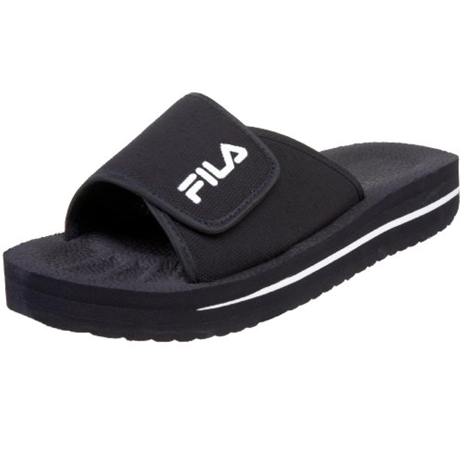 Fila Slip-On Strap Sandal Youth US 4 Blue Slides Sandal