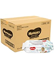 HUGGIES Pure Clean Baby Wipes 64sx12, 12 count