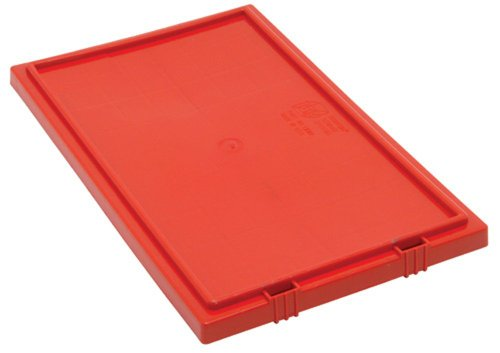 Quantum LID181RD 6-Pack Lid for SNT180 and SNT185 Stack and Nest Totes, Red by Quantum Storage Systems