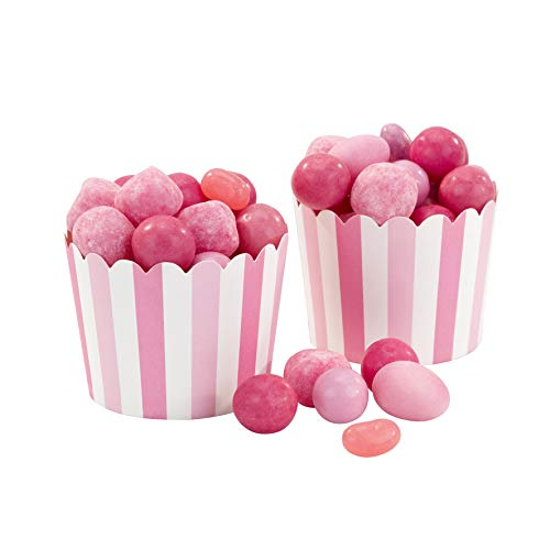(Talking Tables MIX-TREATCUP-PK Kids Party Pink Treat Tubs Cups, Pack of 20, Height 15cm, 6