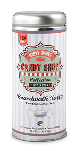 Candy Teas- Boardwalk Taffy: All-Natural, Gluten Free, 24 servings -