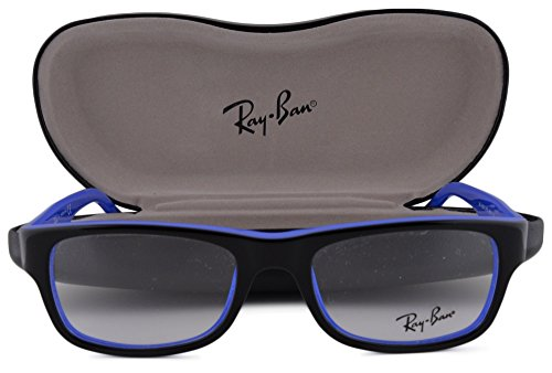 Ray Ban RX5268 Eyeglasses 50-17-135 Top Black On Blue 5179 - Ray Ban Real
