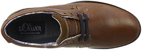 S Chaussures navy 13201 380 oliver cognac Bateau Homme Brun RwrRUq