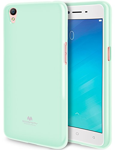 41TAext0yLL - GOOSPERY Marlang Marlang OPPO A37 Case - Mint Green, Free Screen Protector [Slim Fit] TPU Case [Flexible] Pearl Jelly [Protection] Bumper Cover for OPPO A37, OPPOA37-JEL/SP-MNT