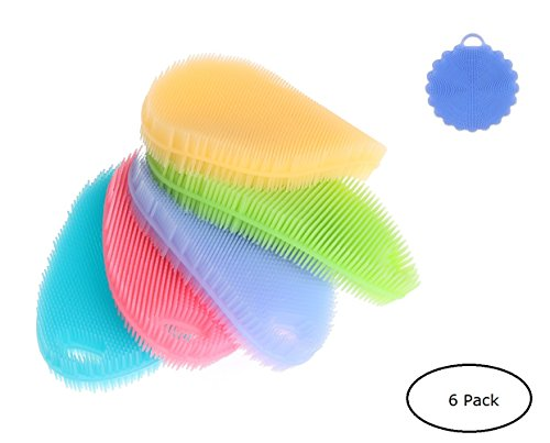 Silicone Cleaning Washing Brush Scrubbers-Dish Fruit Bath Scrubbers Washing Brushes Silicone Bathing Brush - WB01  Price: $11.99