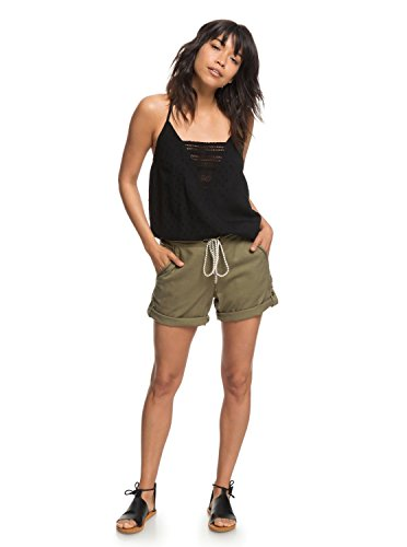 Roxy Womens Love at Two - Beach Shorts - Women - M - Green Burnt Olive M by Roxy (Image #2)