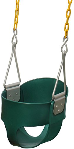 Jungle Gym Kingdom High Back Full Bucket Toddler Swing Seat Heavy Duty Chain - Swing Set Accessories