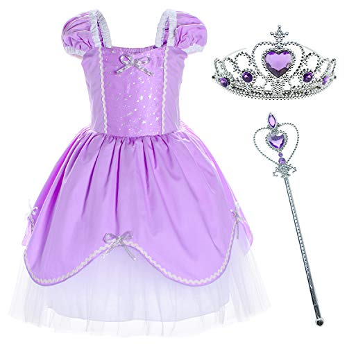 Princess Costume Birthday Party Dress for Toddler Girls 18-24 Months]()