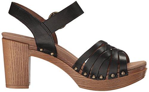 Sandalo Con Tacco Da Donna Dansko Dawson Nero Pieno Fiore