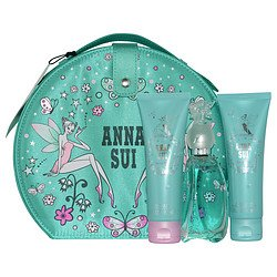- Anna Sui Secret Wish Vanity Set incl: 1.7 oz (50ml) EDT spray Perfume + 90 ml Body Lotion and 90 ml Shower Gel