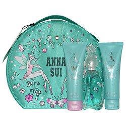 Anna Sui Secret Wish Vanity Set incl: 1.7 oz (50ml) EDT spray Perfume + 90 ml Body Lotion and 90 ml Shower (Anna Vanity)