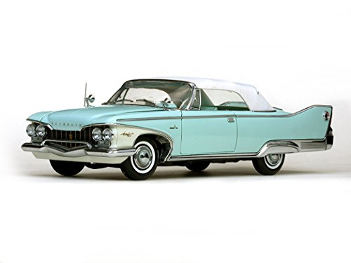 #5411 Sun Star 1960 Plymouth Fury Closed Convertible, White/Aqua Mist 1/18 Scale -