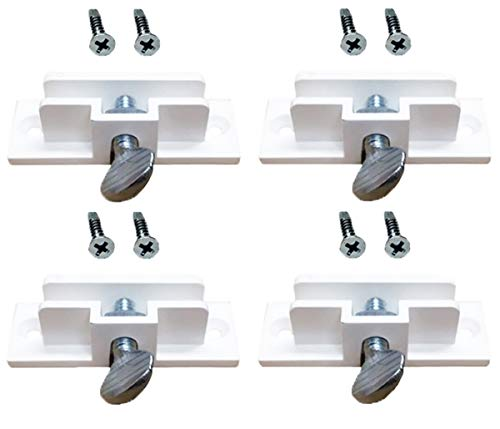 4 Real Estate Rider Clips Replacement, Use with 6 X 24 Riders on Sign Posts, Adhesive Strip and Stainless Steel Screws included