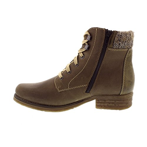 Rieker Women's 79602-54 Composition Leather Ankle Boots olive/graphit/olive aWts5jn