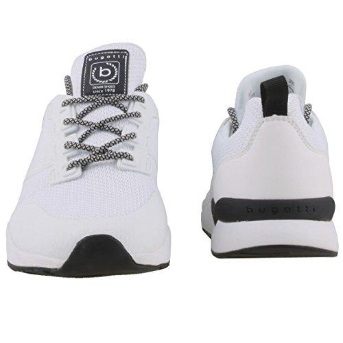 bugatti Dy02666-200 - Zapatos de cordones para hombre Weiß