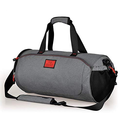 (Cool NEW! Duffel Style Carry On Sports Travel Bag with Shoulder Strap, Zippered Compartments)