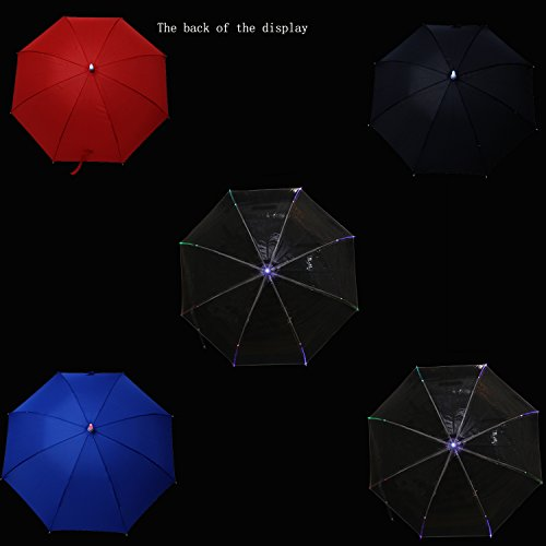 Creative Lightsaber Stick Umbrella 7 Colour changing LED Light Daily Accessory (clear) by Cexin (Image #3)