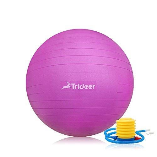 Balance Ball Chair Youtube: Trideer Exercise Ball (Multiple Color), Yoga Ball