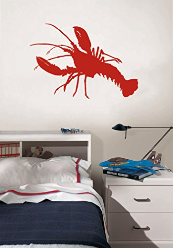 Red Lobster - Peel and Stick Removable Wall Decal - 13