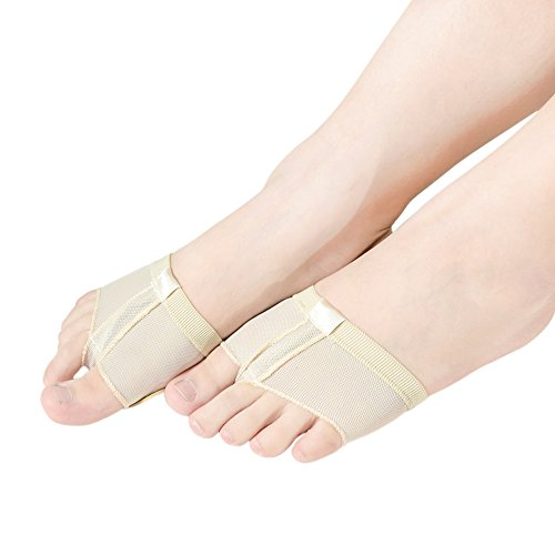MiDee Feet Toes Thong Half Sole Dance Shoes Lyrical Dancing Paw Pad (L, Skin)