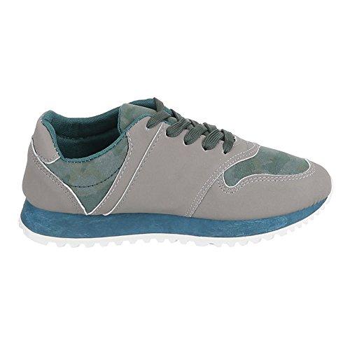 Ital-Design - Zapatillas de casa Mujer Verde - Grün Grau