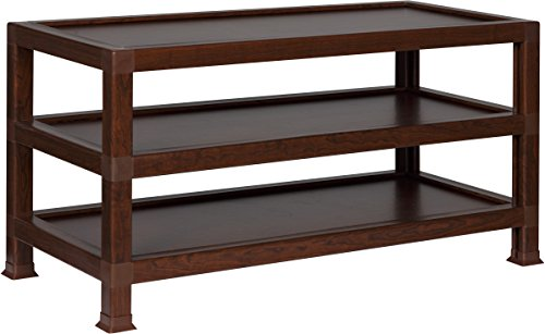 OneSpace 100% Recycled Paper TV Stand, Teak (36 Inch Wide Tvs)