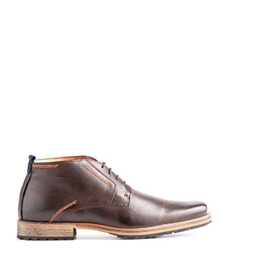 Travelin London Leather Chukka Boots | Schnürhalbschuhe Herren | Freizeitschuhe Hochzeitschuhe | Business Schuhe Anzugschuhe | Lederschuhe in Vielen Farben Dark Grey