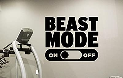 Beast Mode Gym Motivational Wall Decal Healthy Lifestyle Gym Decor Fitness Vinyl Sticker Fitness Motivation Sports Wellness Gym Wall Art Design Gym Quote Wall Art Mural 53fit