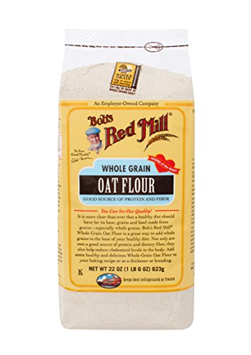 - Bob's Red Mill Whole Grain Oat Flour, 22 Ounce (Pack of 4)