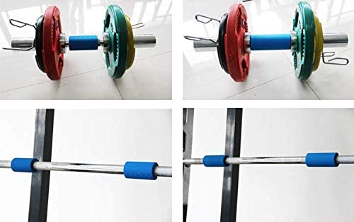 Barbell Grips-Thick Bar Fat Grips for Weightlifting 1 inch-Dumbbell Handles Stress Relieve Alpha Grip Hand Protector Pull up Tape Arm Blaster Adapter for Standard Hex//Bicep//Tricep//Threaded//Shrug Bars.