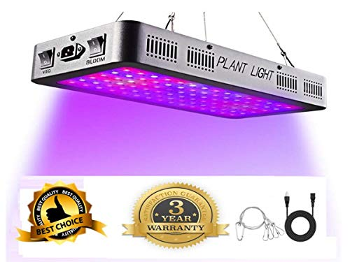 - Proisland 1200W LED Grow Light, Newest Full Spectrum Plant Light with UV/IR, Adjustable Rope, Veg & Bloom Double Switch Grow Lamp, for Indoor Plants Veg Flower,3 Years Warranty