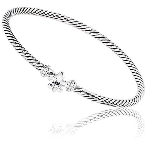 David Yurman Cable Collectibles Fleur-de-les Diamonds Bracelet NMS16Y0SCR