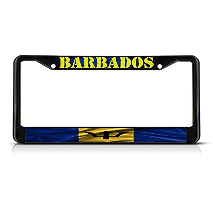Barbados Flag License Plate Tag Vanity Front Aluminum 6 Inches By 12 Inches