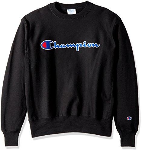 - Champion LIFE Men's Reverse Weave Sweatshirt,Black/Center